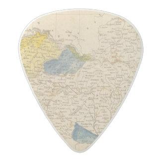 Austrian Dominions Map by Arrowsmith Acetal Guitar Pick