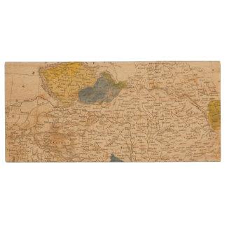 Austrian Dominions Map by Arrowsmith Wood USB 2.0 Flash Drive
