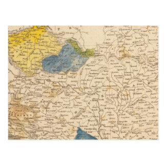 Austrian Dominions Map by Arrowsmith Postcard