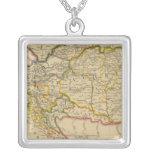 Austrian Empire 7 Square Pendant Necklace