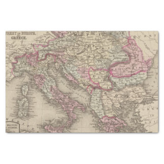 "Austrian Empire, Italy, Turkey in Europe, Greece 2 10"" X 15"" Tissue Paper"