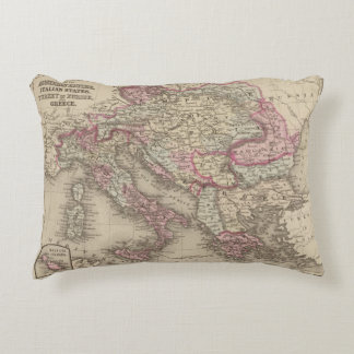 Austrian Empire, Italy, Turkey in Europe, Greece 2 Accent Pillow