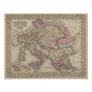 Austrian Empire, Italy, Turkey in Europe, Greece 2 Posters