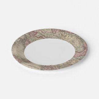 Austrian Empire, Italy, Turkey in Europe, Greece 2 7 Inch Paper Plate