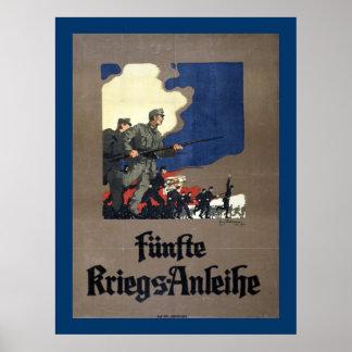 Austrian Fifth War Loan (canvas) Print