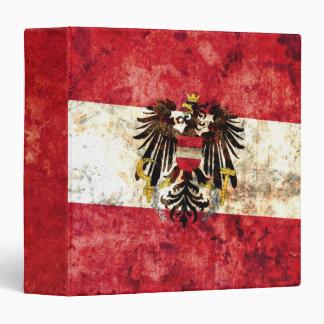Austrian Flag 3 Ring Binder