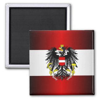 Austrian Flag & Arms Magnet