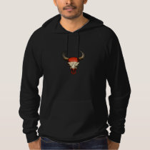 Austrian Flag Bull Skull Hoodie
