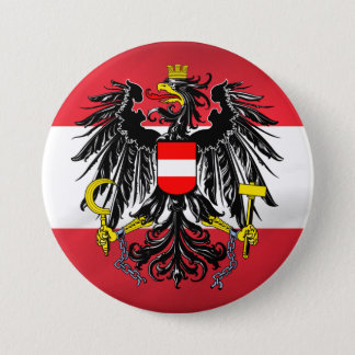 Austrian Flag & Coat of Arms Pinback Button