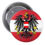 Austrian Flag & Coat of Arms Pinback Button