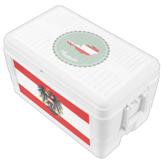 Austrian flag cooler