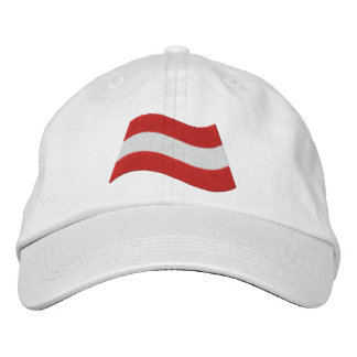 Austrian Flag Embroidered Hat