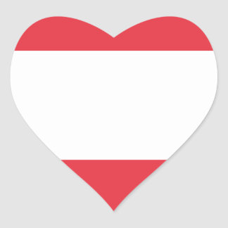 Austrian Flag Heart Sticker