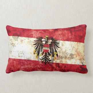 Austrian Flag Lumbar Pillow