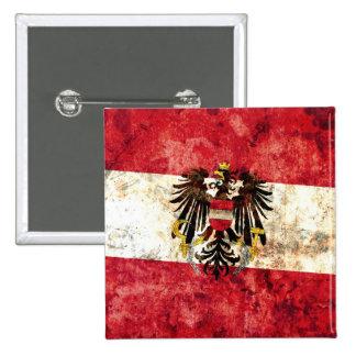 Austrian Flag Pinback Button