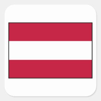 Austrian Flag Square Sticker