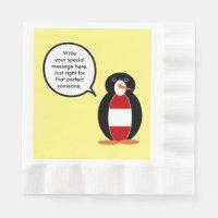 Austrian Flag Talking Penguin