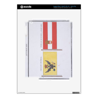 Austrian Flags, from a French book of Flags, c.181 iPad 3 Decal