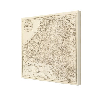 Austrian French and Dutch Netherlands Canvas Print