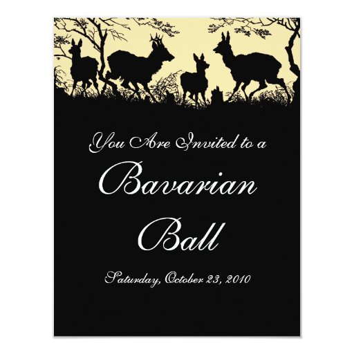 Austrian / German Style Autumn Waltz / Ball Invite