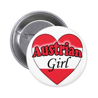 Austrian Girl Pinback Button