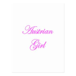 Austrian Girl Postcard