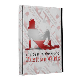 Austrian Girl Silhouette Flag iPad Case