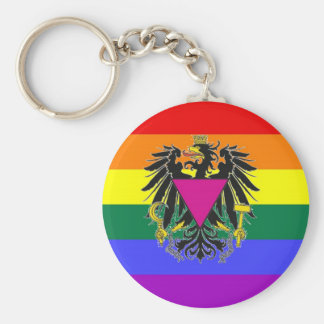 Austrian GLBT Pride Flag Key Chains