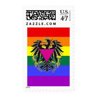 Austrian GLBT Pride Flag Postage Stamp