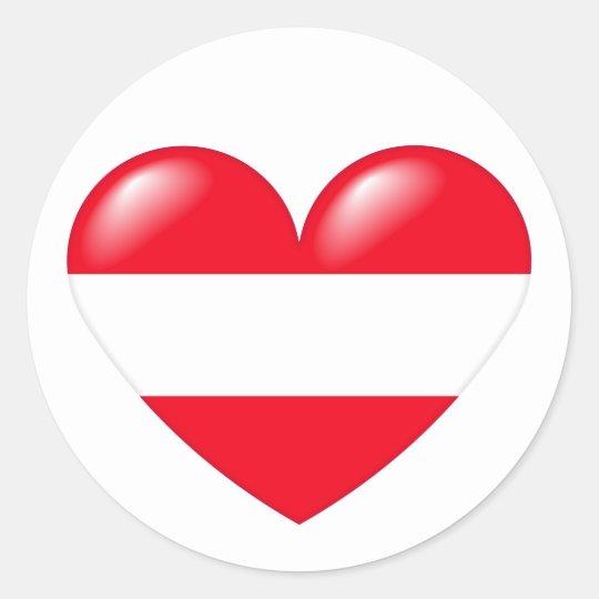 Austrian heart sticker - Österreichisch Herz