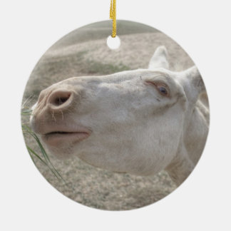 Austrian-Hungarian White Donkey Ceramic Ornament