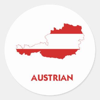 AUSTRIAN MAP CLASSIC ROUND STICKER