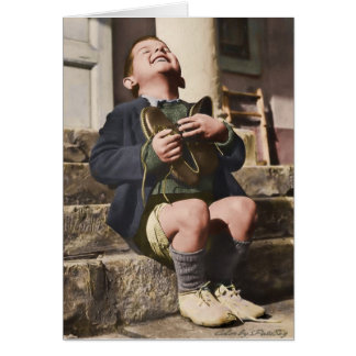 Austrian Orphan with New Shoes Card