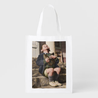 Austrian Orphan with New Shoes Grocery Bag