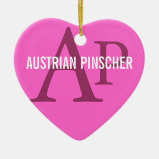 Austrian Pinscher Monogram Ceramic Ornament