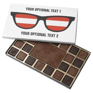 Austrian Shades custom chocolate box