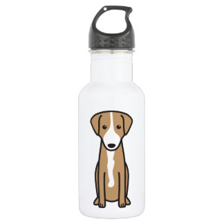 Austrian Shorthaired Pinscher Dog Cartoon Water Bottle