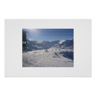 Austrian skiing poster