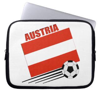 Austrian Soccer Team Laptop Computer Sleeves