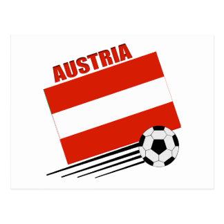 Austrian Soccer Team Postcard