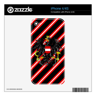 Austrian stripes flag skin for iPhone 4