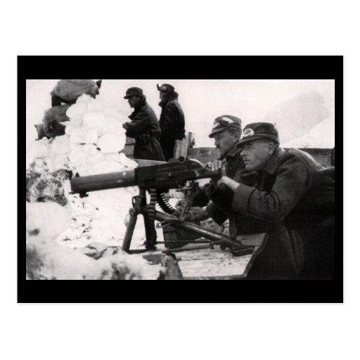 Austro-Hungarian Machine Gunners Postcard