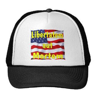 Aut Mortem de Libertatem de la bandera americana ( Gorros
