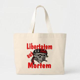 Aut Mortem de Libertatem del cráneo (latino para l Bolsas De Mano