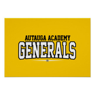 Autauga Academy; Generals Posters