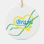 Autentica paixão Brasileira Ornamentos Para Arvore De Natal