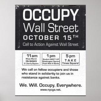 Auténtico ocupe Wall Street toman el aviador del T Posters