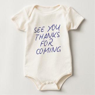 """Auténtico """"véale las gracias por venir """" mameluco de bebé"""