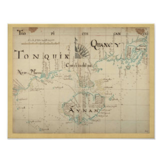 Authentic 1690 Pirate Map - New Larger Size Poster