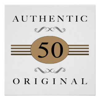 Authentic 50th Birthday Poster